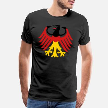 Germany 01 German Eagle Bundesadler Germany Coat of Arms - Men's Premium T-Shirt