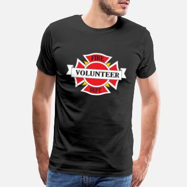 Volunteer Fire Department Fire Department Volunteer - Men's Premium T-Shirt
