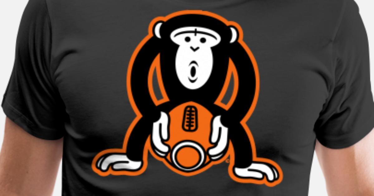 Monkey Football Men S Premium T Shirt Spreadshirt