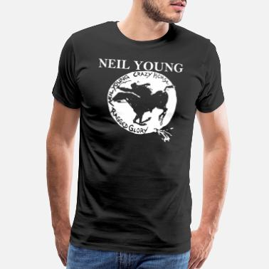 Young Neil Young Crazy Horse Unisex Retro Rock meme - Men's Premium T-Shirt