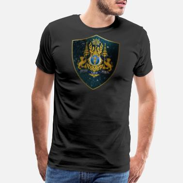 Cambodian Cambodia Coat of Arms - Men's Premium T-Shirt