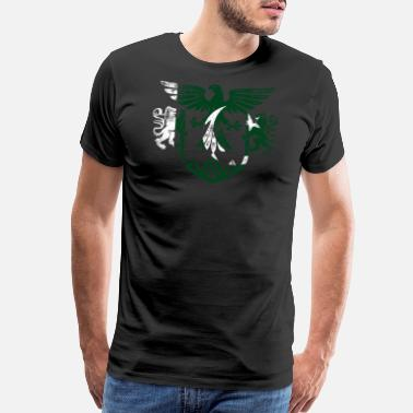 Pakistan Pakistan Flag and Lion Wings Design - Men's Premium T-Shirt