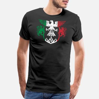 Empire Italy Flag and Lion Wings Design - Men's Premium T-Shirt