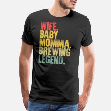 Mrs Best Mother Women Funny Gift T Shirt Wife Baby - Men's Premium T-Shirt