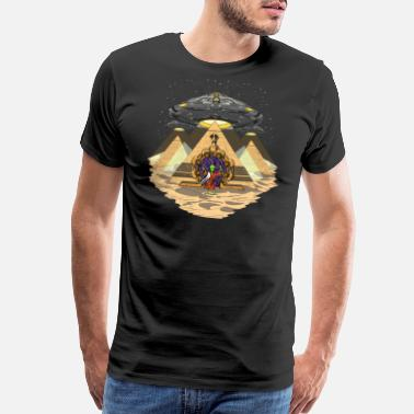 Alien Alien Abduction Egyptian Pyramids Anunnaki - Men's Premium T-Shirt