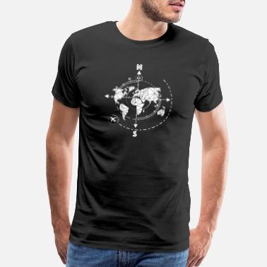 Black Owned Linear time travel / explorer, map, abstract, - Men's Premium T-Shirt