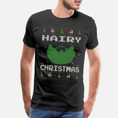 Christmas Hairy Christmas Beard - Men's Premium T-Shirt