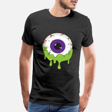 Monster Slimy Slimy Human Eye Ball - Creepy Funny Halloween - Men's Premium T-Shirt