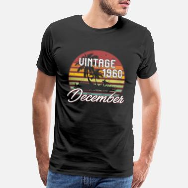 Birthday-58 58th Birthday Gifts Retro Vintage December 1960 - Men's Premium T-Shirt