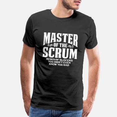 Building Master of the Scrum - Fathers Day Gift for Dad - Men's Premium T-Shirt