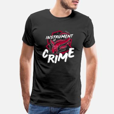 Funny Crime Catfish Intrument of Crime Ice Hockey Player Fan - Men's Premium T-Shirt