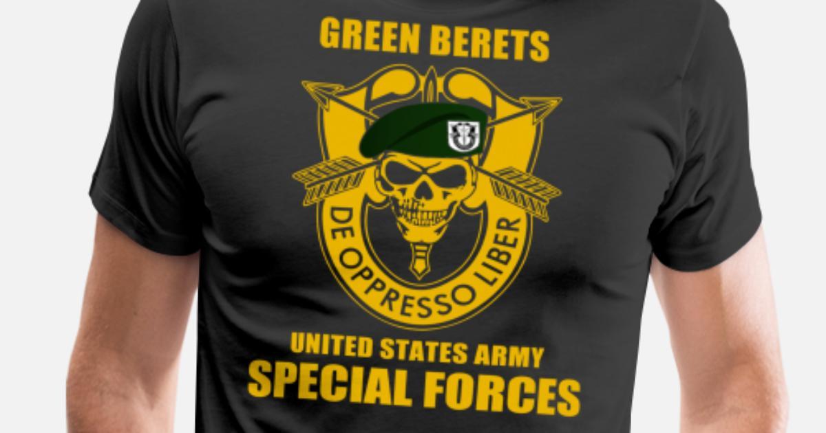 d7a7b0f83 SPECIAL FORCES GROUP AIRBORNE MILITARY Men's Premium T-Shirt ...