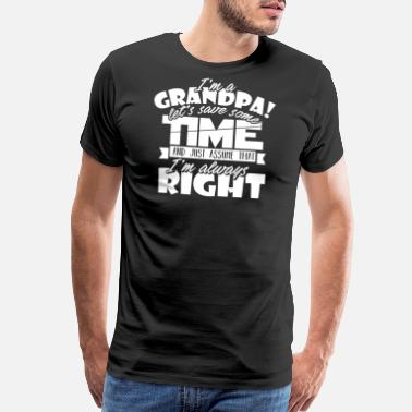 Grandfather Grandpa - Granddad - Grandfather - Grandparents - Men's Premium T-Shirt