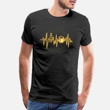 Drunkard (Gift) Heart beat for beer - Men's Premium T-Shirt