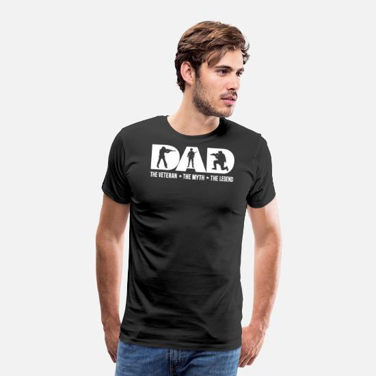 1d4bfd97 Dad T-Shirts - Veteran Dad The Veteran The Myth The Legend - Men's Premium