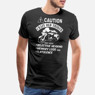 Triker caution crazy old triker cycling t shirts - Men's Premium T-Shirt