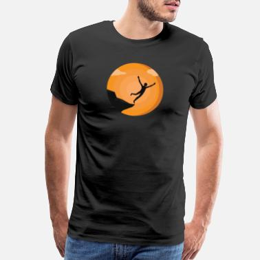 Diving Board Cliff Diver Vintage Silhouette Cliff Jumping Gift - Men's Premium T-Shirt
