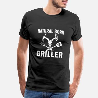 Grillking Natural Born Griller Grill Master BBQ Gift - Men's Premium T-Shirt