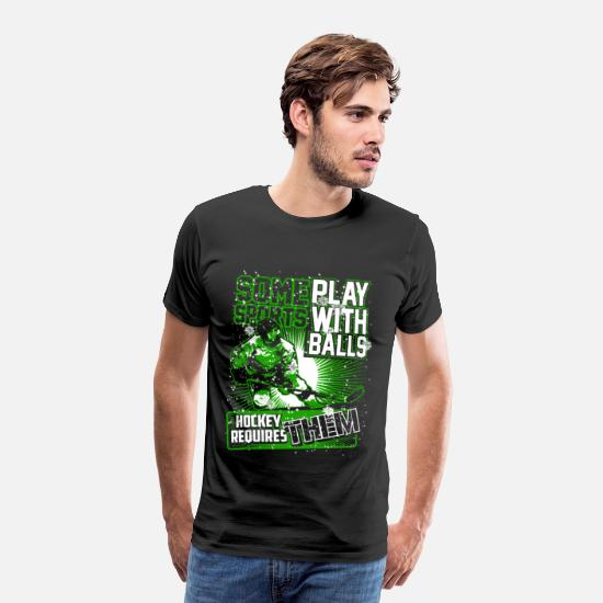 Hockey T-Shirts - Hockey - Play with balls - Men's Premium T-Shirt black