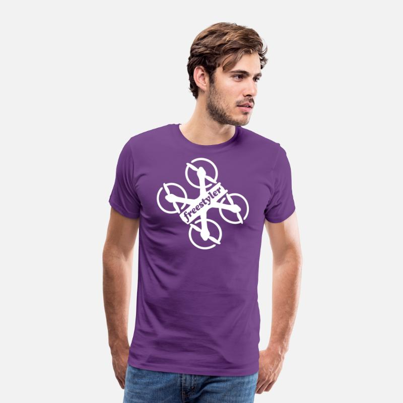 FPV Drone Freestyler Men's Premium T-Shirt - purple