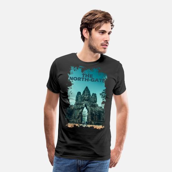 Cambodia T-Shirts - The North Gate - Angkor Thom - Men's Premium T-Shirt black
