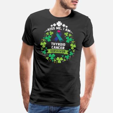 Awareness Ribbon St Patricks Day- Thyroid cancer Awareness Shirt - Men's Premium T-Shirt
