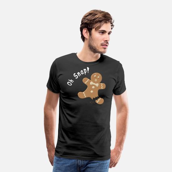 Christmas T-Shirts - Oh Snap - Men's Premium T-Shirt black