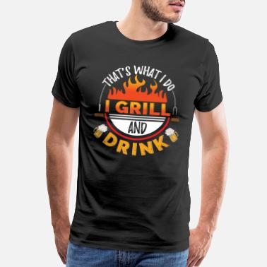 Master Grill And Drink - Men's Premium T-Shirt