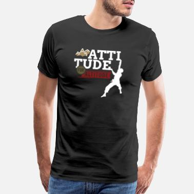 Wall Altitude for Attitude - Climb, Boulder, Mountain - Men's Premium T-Shirt