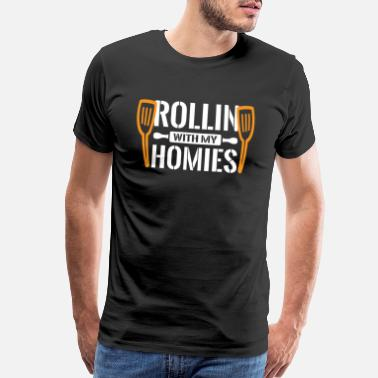 Kanji Rollin with my Homies - Sushi Japanese - Men's Premium T-Shirt