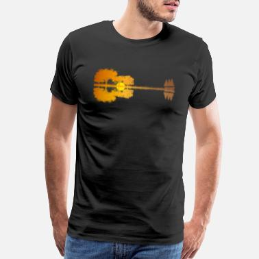 Sunset Guitar - Men's Premium T-Shirt