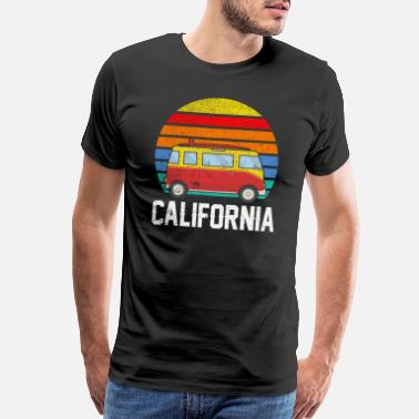 California Beach Retro California Hippie Van Beach Bum Surfer - Men's Premium T-Shirt