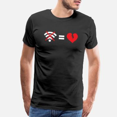 Wifi Signal No WIFI is like a broken heart - Men's Premium T-Shirt