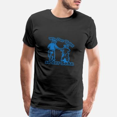 Racing Car Like father like son - Motocross Enduro - Men's Premium T-Shirt