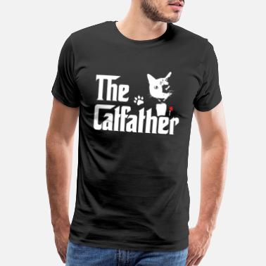 The Catfather The Catfather Shirt Funny Gift T-Shirt for Cat Dad - Men's Premium T-Shirt