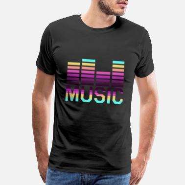 Music Chart Music Tones Style Listening Colorful Musical Party - Men's Premium T-Shirt