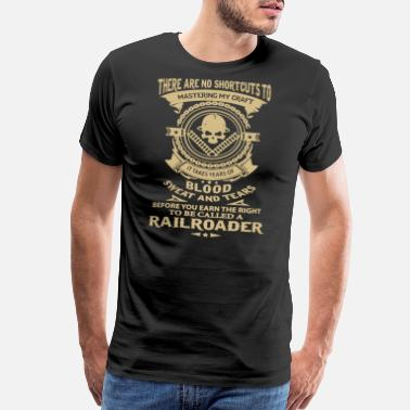 Railroad Called A Railroader T Shirt - Men's Premium T-Shirt