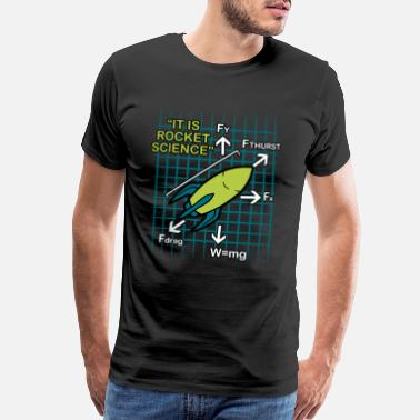 Missile Rocket Science Missile Spaceflight Aircraft Gift - Men's Premium T-Shirt