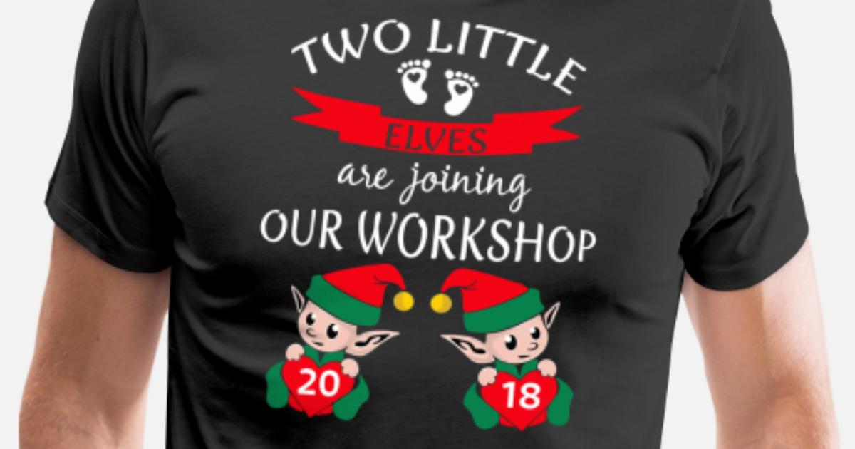 3ed395279cfb0 2018 Cute Twins Christmas Pregnancy Announcement Men's Premium T-Shirt |  Spreadshirt