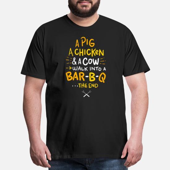 22196218 Funny BBQ Shirt I Anti Vegan Shirt Men's Premium T-Shirt | Spreadshirt