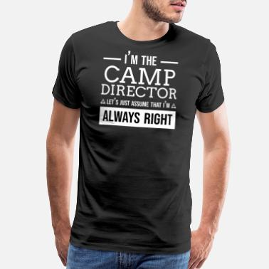 Funny-camping Funny Camp Director Camping Campfire Beer Saying - Men's Premium T-Shirt