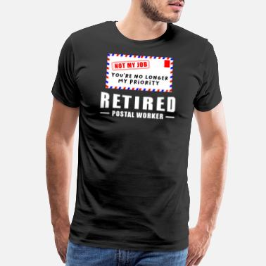 Postal Retirement Post Office Retired Postal Worker Gift - Men's Premium T-Shirt