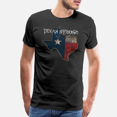 State Of Texas Flag Texas State Is My Home Longhorn Design 21 - Men's Premium T-Shirt
