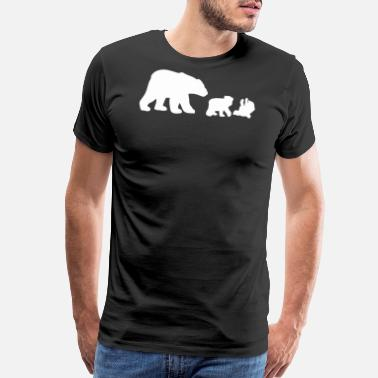 Polaroid POLAR BEAR AND CUBS - Men's Premium T-Shirt