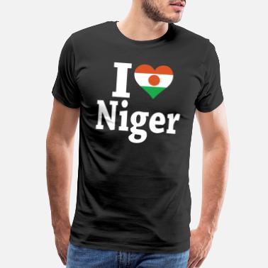 I Love Heart Niamey Black Sweatshirt