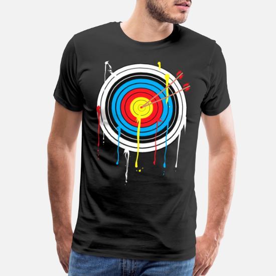 a15d51b03cc Target Archery Compound Recurve Bow Men s Premium T-Shirt
