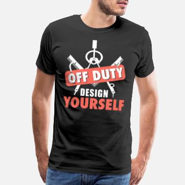 Structural Engineering Architect Off Duty Analyze Yourself Funny Gift Tee - Men's Premium T-Shirt