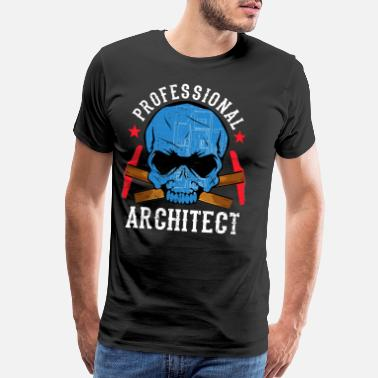 Civil Engineering construction illustration artwork layout decor - Men's Premium T-Shirt