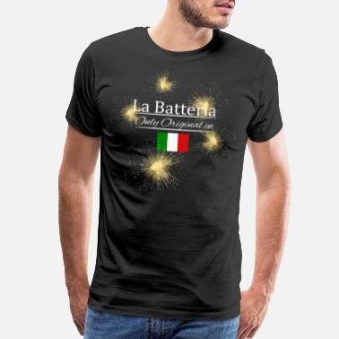 Pyro Fireworks Pyro Italy Batteria original with flag - Men's Premium T-Shirt