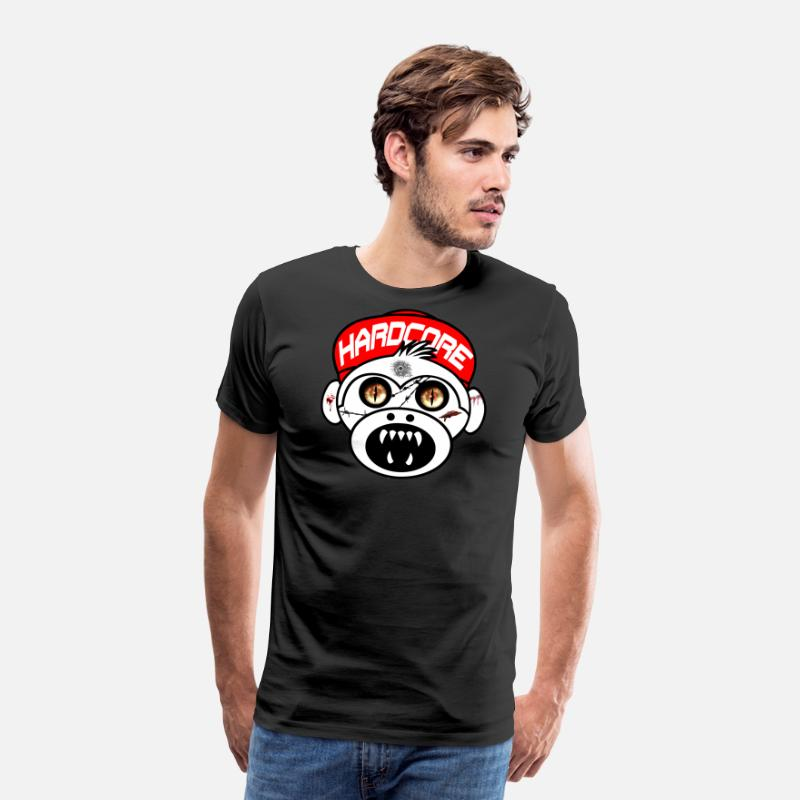 Hardcore T-Shirts - Hardcore Monkey - Men's Premium T-Shirt black